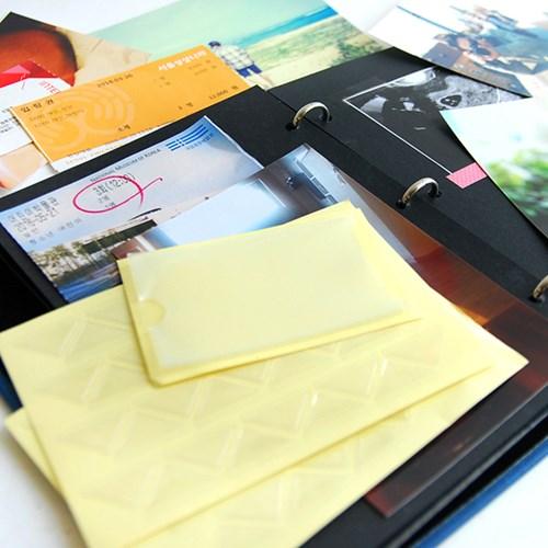 스크랩 꾸미기아이템-메모리 포켓(사진+티켓+엽서+수납포켓)
