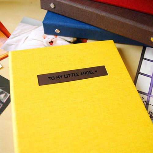 THE MOMENT 제이로그 접착식앨범X스크랩북 바인더-옐로우