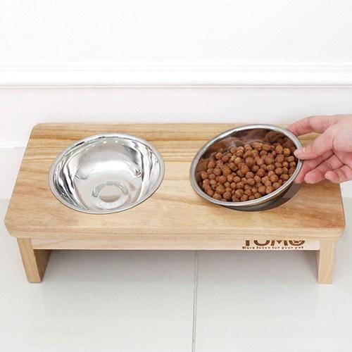 토모 원목 애견식탁세트(2구)