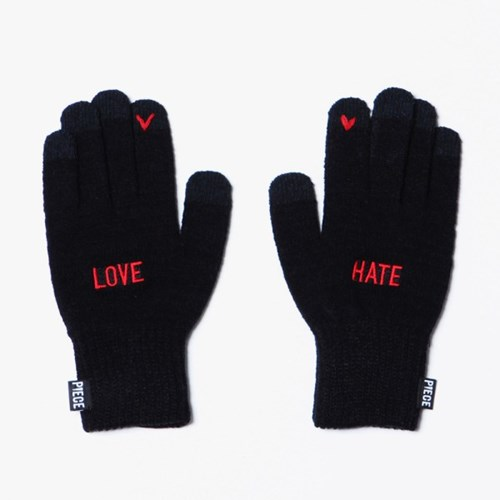 LOVE HATE SMART GLOVE (BLACK)