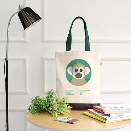 다람쥐원숭이 멸종위기동물 에코백