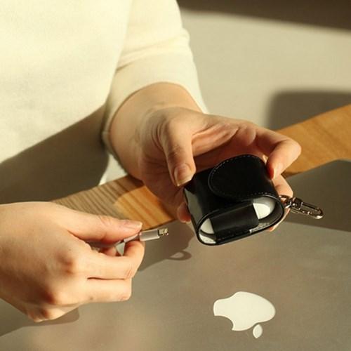 한스마레 애플 에어팟 케이스 - 블랙
