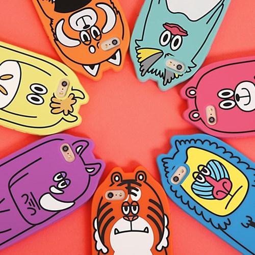 Candies 동물 아이폰6s/6 실리콘 케이스-호랑이 [325-102137]