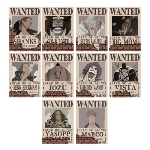 원피스 현상 수배 포스터 10종 - 신세계해적편