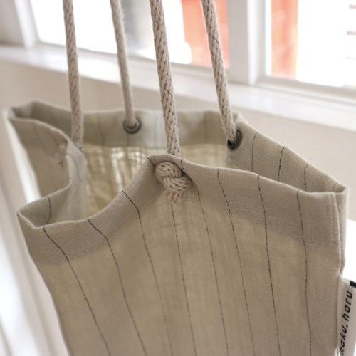 [haku.haru] off rope string ecobag