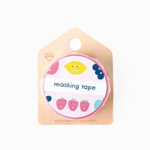 [AIUEO] Masking tape katanuki - FRUITS MIX