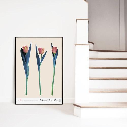 메탈 북유럽 식물 꽃 인테리어 포스터 액자 튤립