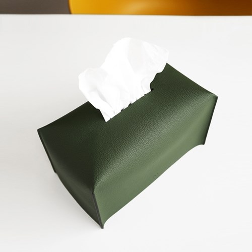Edge leather Tissue Cover
