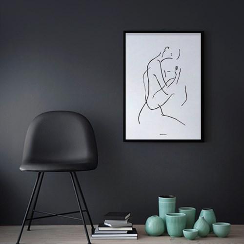 미니멀 인테리어 디자인 포스터 M 드로잉연인2