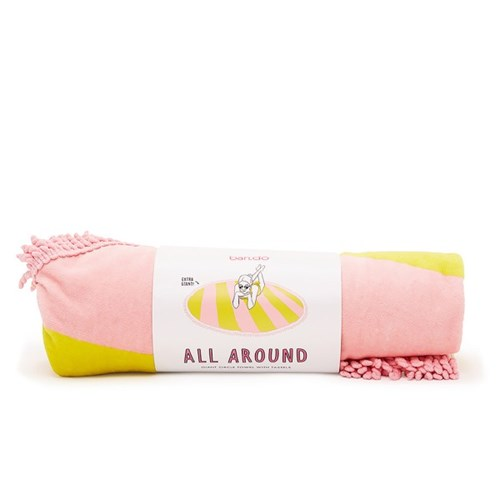 all around giant towel, beverly stripe (daffodil/cameo)