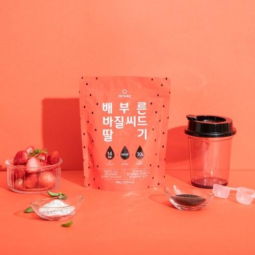 배부른 바질씨드 스무디 2종 (딸기/바나나, 2주분)