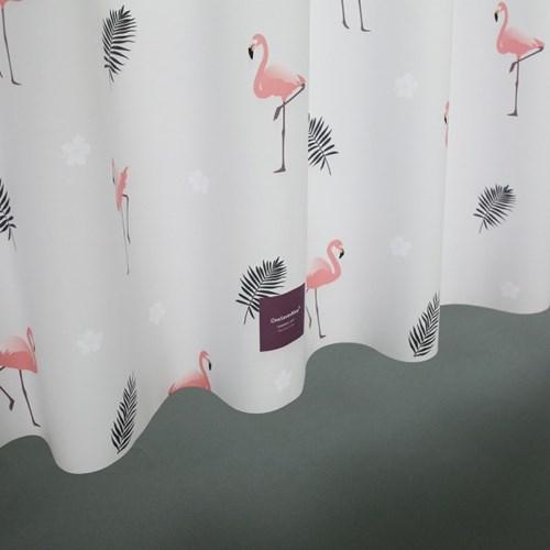샤워커튼 썸머에디션 플라밍고
