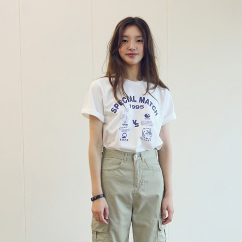 SPECIAL MATCH TEE-IVORY