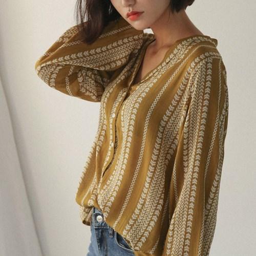 v-neck soft ethnic blouse