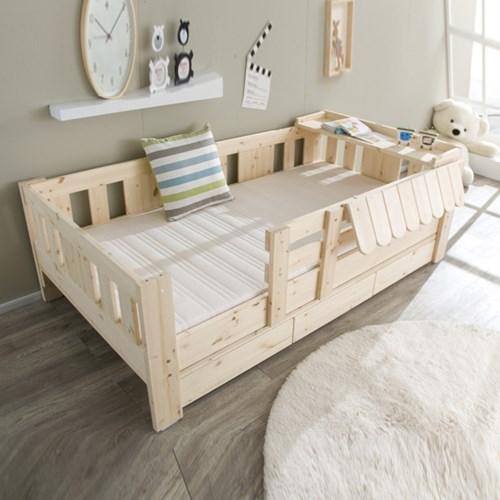 카일리 원목 서랍형 싱글 침대/소나무(매트리스별도)_(602565148)