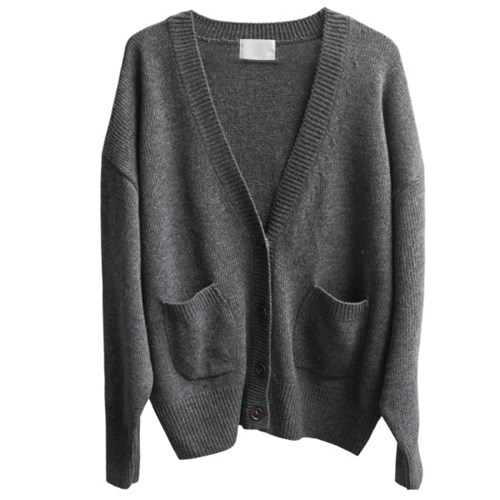 wool loose cardigan