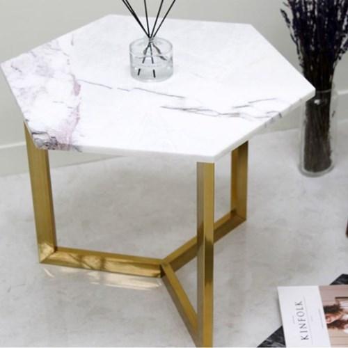 아르마블 라일락 육각 대리석 테이블