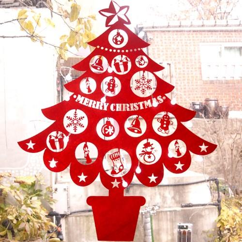 펠트 크리스마스트리 조명포함