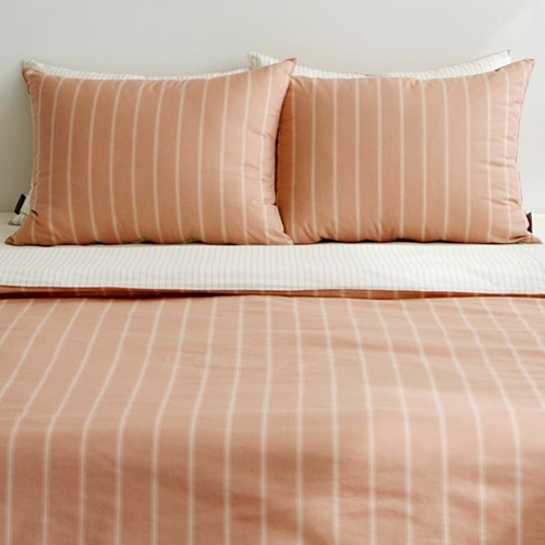 Bedding set (cotton) - 39 Pink simple line Q(퀸)