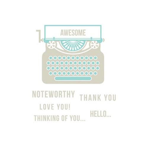 레터프레스 플레이트-Typewriter