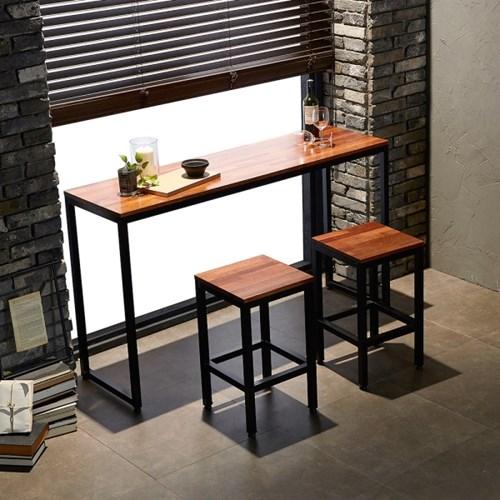카페에디트 멀바우원목 슬림홈바테이블