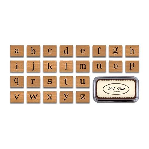 카발리니 빈티지 스탬프 세트-Positive Alphabet