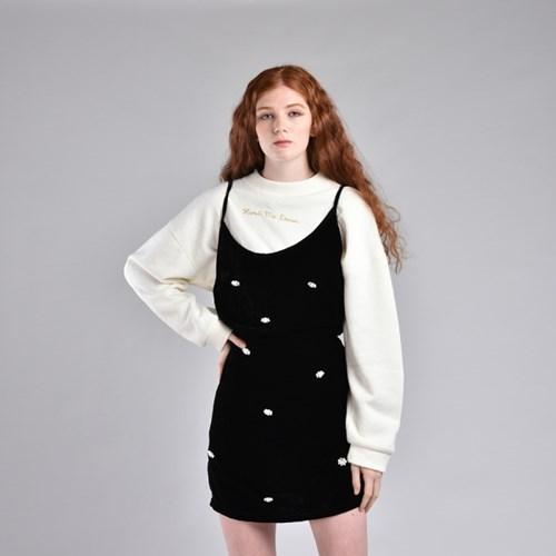 [hand me down/핸드미다운] Snow Flower Velvet Mini Dress