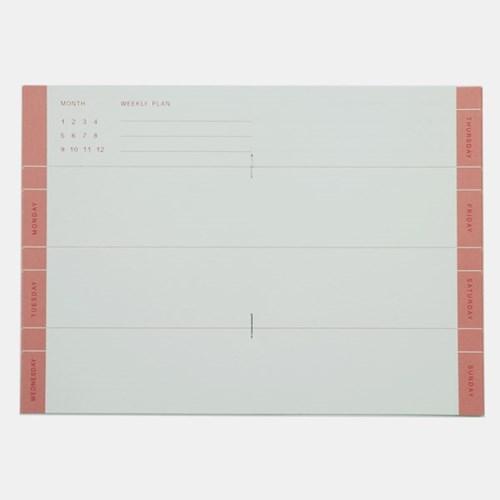 Weekly Planner - Pink (15weeks)
