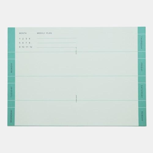 Weekly Planner - Mint (15weeks)