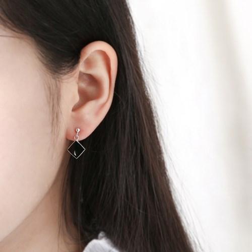 사각 오닉스 드롭 귀걸이