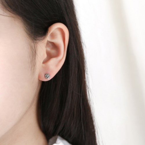 미니 마카사이트 플라워 귀걸이