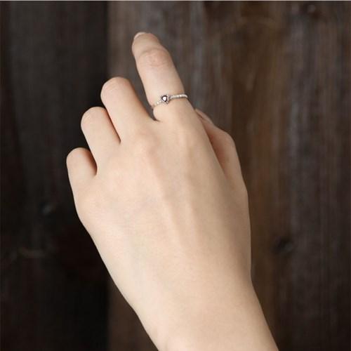 (1월 탄생석)가넷 하트 반지