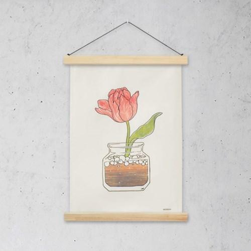 화분 패브릭 포스터 / 가리개 커튼