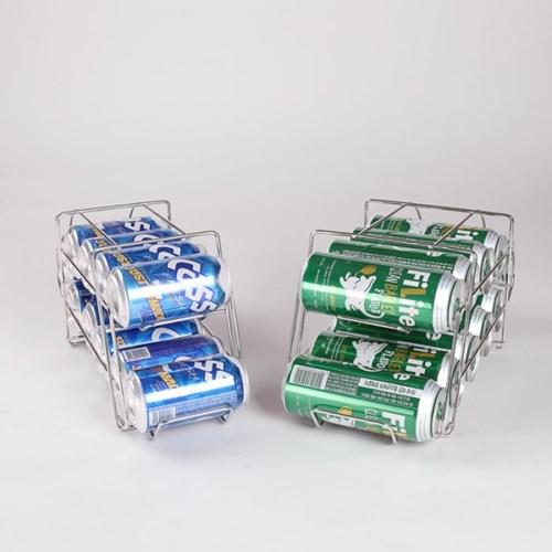 이노카 맥주캔 와이어랙 디스펜서 10캔보관 355ml 500ml 2타입