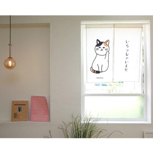 고양이 일본식 문가리개 노렌 커튼 -13type