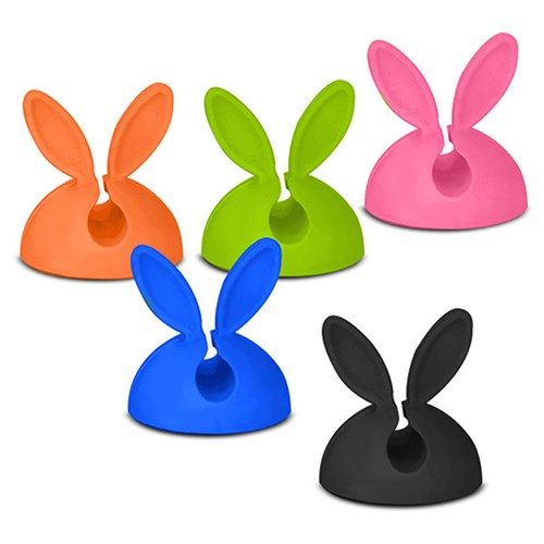 토끼모양의 귀여운 래빗 케이블 클립스 5개입