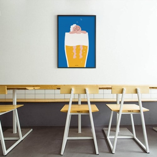 유니크 인테리어 디자인 포스터 M 골든슬럼버 맥주