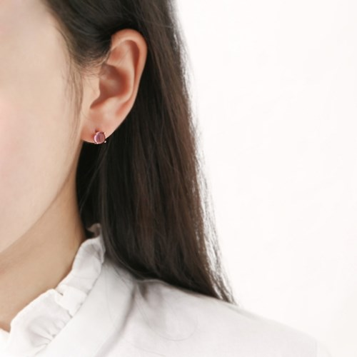 심플 퍼플 귀걸이