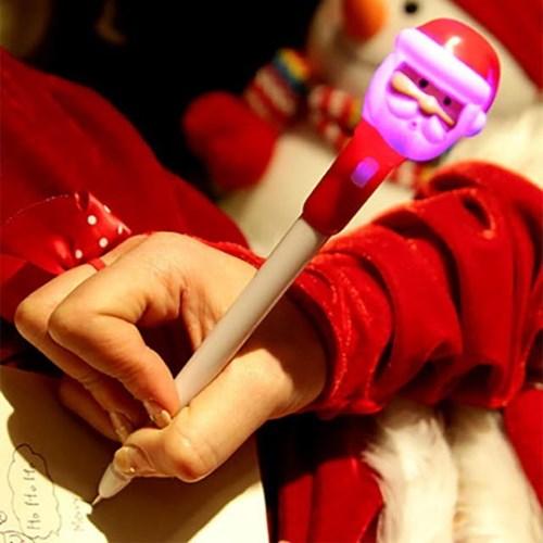 점등 크리스마스 볼펜 (산타)_(301527976)