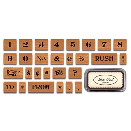 카발리니 빈티지 스탬프 세트-Numbers & Symbols