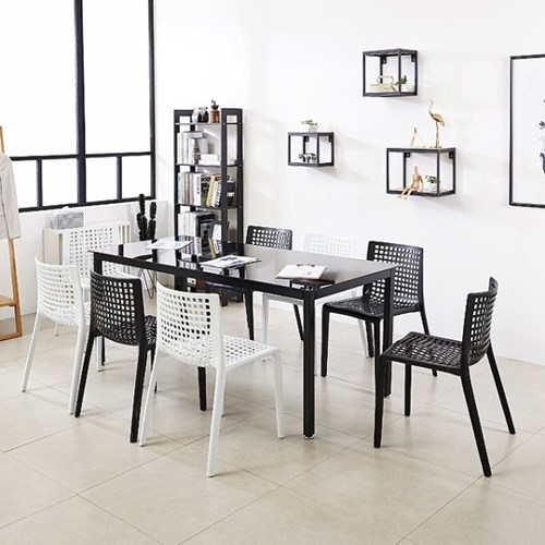 K34 스틸 1800 테이블 의자 세트_(1567342)