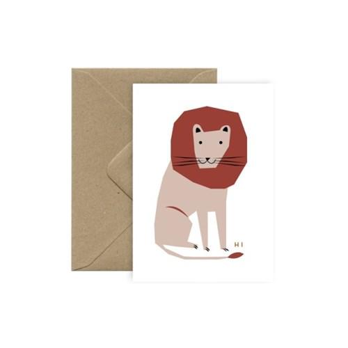 미슈카스 디자인 카드 - [Michoucas Design] Hi Lion