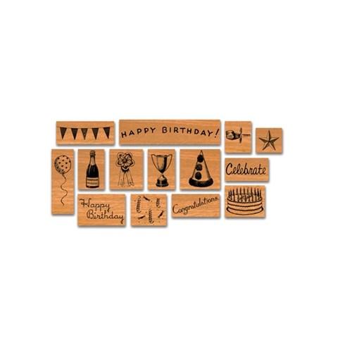 카발리니 빈티지 스탬프 세트 미니-생일축하