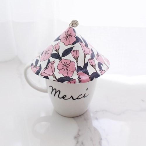 {Cup Cover}플라워시리즈_레트로 핑크 컵커버(컵덮개,컵뚜껑)