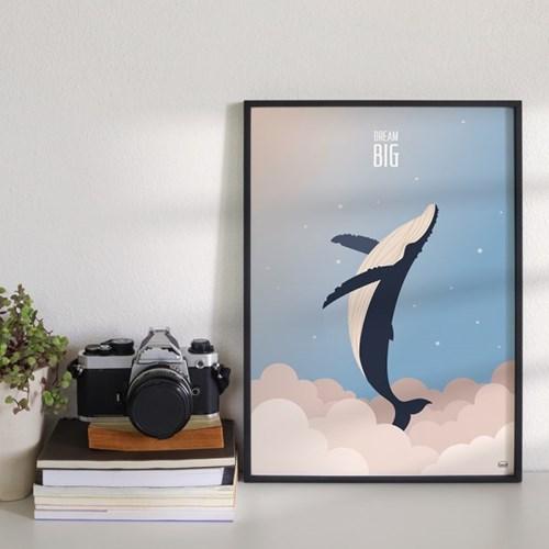 드림빅 하늘고래 - 데이 포스터 액자