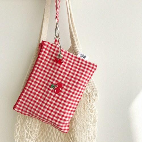 cherry strap pouch