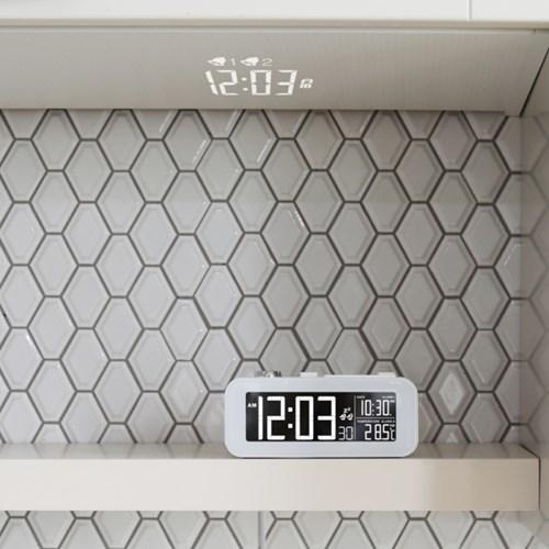 [무아스] 화이트빔 프로젝션 LED 클락