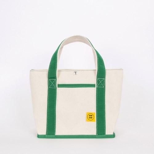 CHOU CHOU TOTE BAG Ecru-green 슈슈 토트 백 에쿠르-그린