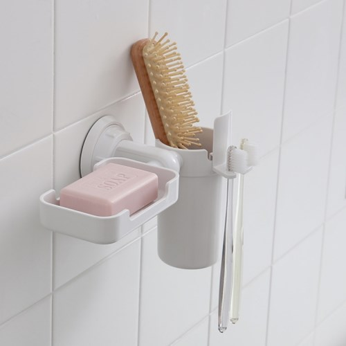 무타공 흡착 욕실정리용품 택1