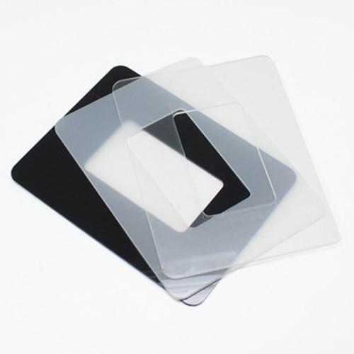 빠띠라인 아크릴 스위치 커버 소형 투명 블랙 미색